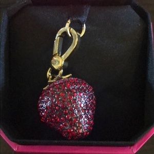 Juicy couture rhinestone strawberry charm